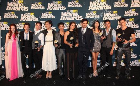 Twilight Cast; Bryce Dallas Howard, Xavier Samuel, Jackson Rathbone, Boo Boo Stewart, Nikki Reed, Peter Facinelli