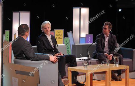 Julian Assange being interviewed by Philippe Sands