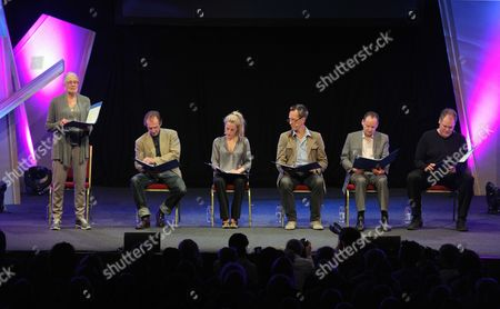 Stock Photo of Vanessa Redgrave, Ralph Fiennes, Gillian Anderson, Richard E Grant, Philippe Sands and Jay Sanders
