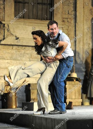 Editorial picture of 'L'elisir d'amore' performed at the Glyndebourne Festival, East Sussex, Britain - 05 Jun 2011