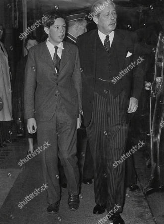 Prime Minister Harold Macmillan Earl Of Stockton At Savoy Theatre With His Grandson Alexander Macmillan To See Free As Air