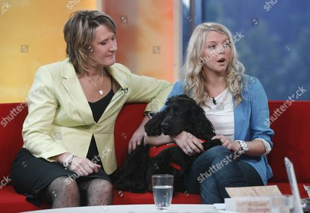 Kelly Sears, Claire Guest and Theo the dog