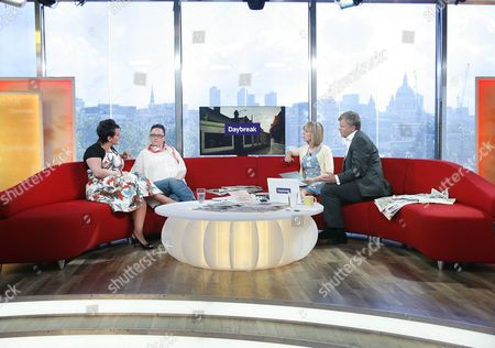 Hayley Taylor and Sue McArd with Kate Garraway and Adrian Chiles