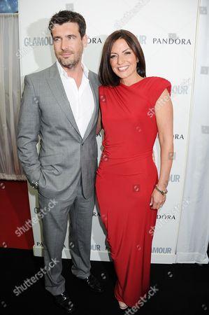 Matthew Robertson and Davina McCall