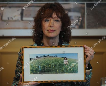 Bel Mooney With A Picture Of Herself In Woolley Valley Near Bath. The Centre Of Planning Problems For Harry Mount Feature.