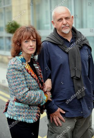 Bel Mooney With Former Resident And Musician Peter Gabriel Of Woolley Valley Near Bath. Regarding Planning Dispute.