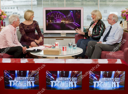 Phillip Schofield and Jenni Falconer with Jean Martyn and Steven Hall