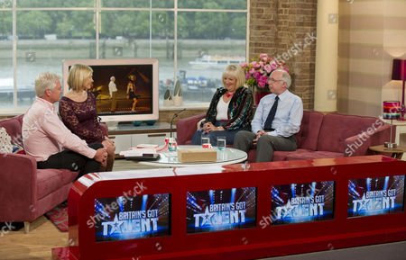 Stock Picture of Phillip Schofield and Jenni Falconer with Jean Martyn and Steven Hall