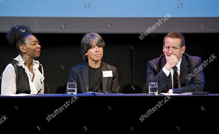 Baroness Floella Benjamin, Anthony Browne (previous Laureate) and Ed Vaizey