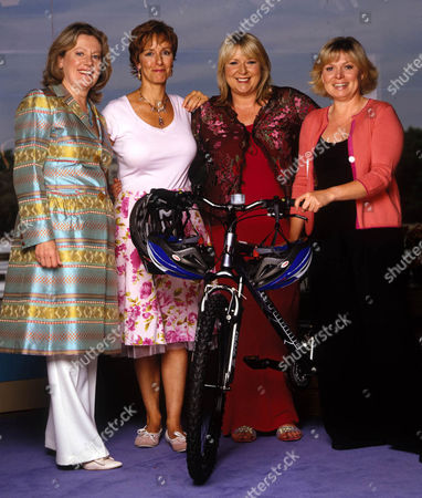 Stock Picture of Shu Richmond, Dianne Nelmes, the lady that launched This Morning, with Julie Dawn Cole and Fern Britton