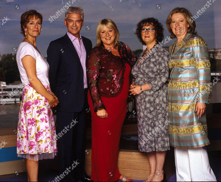 Stock Image of Shu Richmond, Dianne Nelmes, the lady that launched This Morning, with Phillip Schofield, Fern Britton and Dianne Nelmes