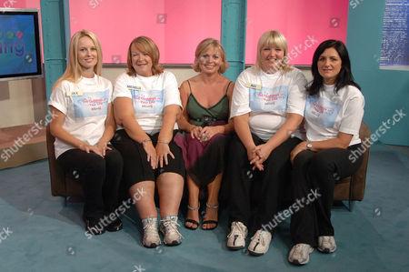 (L-R): Jacqueline Naudi, Michelle Preston, Julie Dawn Cole, Ali Christensen and Cathy Pates.