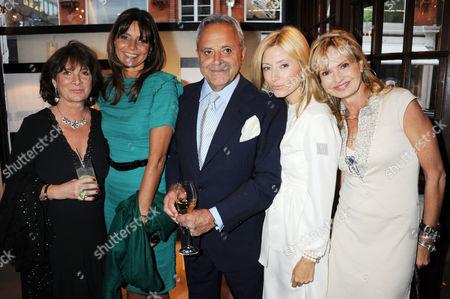 Guest, Countess Debonnaire von Bismarck, Taki Theodoracopulos, Crown Princess Marie-Chantal, Maya Flick