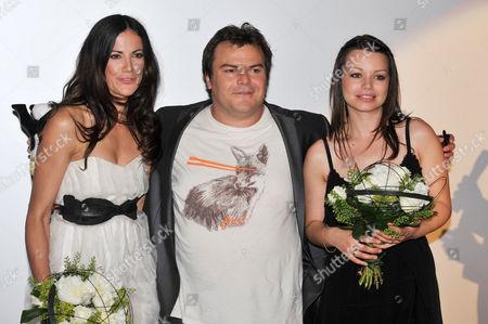 Bettina Zimmermann, Jack Black and Cosma Shiva Hagen