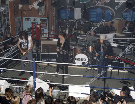 Editorial picture of Razorlight gig in the boxing ring at the All Stars gym, Harrow Road, London, Britain - 08 Jun 2011