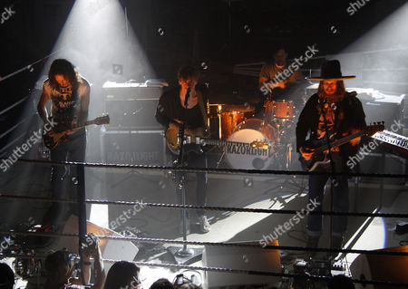 Editorial image of Razorlight gig in the boxing ring at the All Stars gym, Harrow Road, London, Britain - 08 Jun 2011