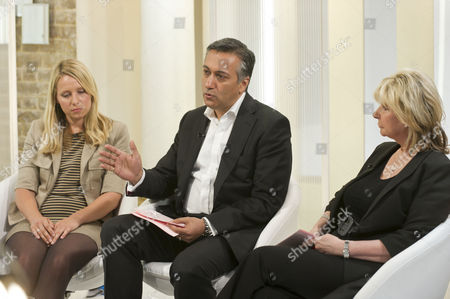 Holly Nuttall, with Dr Khan and Lesley Reynolds Khan