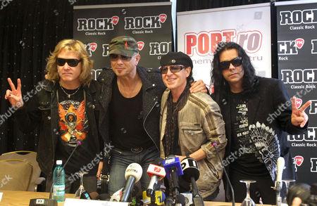 Scorpions - James Kottak, Rudolf Schenker, Klaus Meine and Pawel Maciwoda