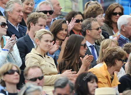 Pippa Middleton and friend George Percy on her right