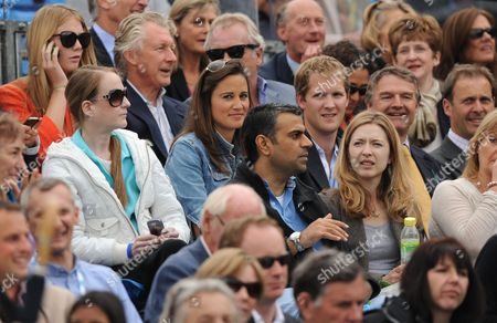 Pippa Middleton and friend George Percy on her left in the crowd
