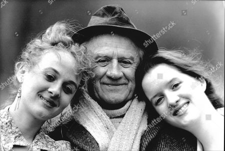Actress Sisters Niamh Cusack (left) And Catherine Cusack With Their Father Cyril Cusack