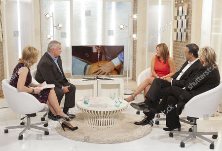 Ruth Langsford and Eamonn Holmes with Jade Meade, Dr Aamer Khan and Lesley Reynolds Khan