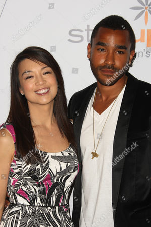 Stock Photo of Ming Na and Jamil Walker Smith