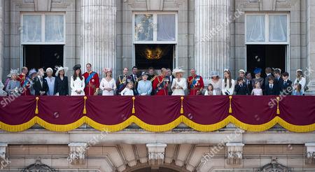 Duchess of Kent, Duke of Kent, Princess Alexandra of Kent, Prince Michael of Kent, Princess Michael of Kent, Sophie Winkleman, Catherine Duchess of Cambridge, Prince William, Sophie Countess of Wessex, Prince Edward, Lady Louise Windsor, Tim Laurence, Princess Anne, Queen Elizabeth II, Prince Harry, Prince Philip, Camilla Duchess of Cornwall, Prince Charles, Estella Taylor, Lady Helen Taylor, Margarita Armstrong-Jones, Eloise Taylor