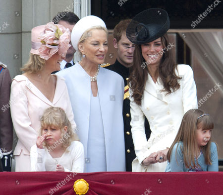 Lady Louise Windsor, Sophie Countess of Wessex, Princess Michael of Kent and Catherine Duchess of Cambridge, Eloise Taylor (r)