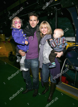 Stefan Booth with wife Debbie Flett and children