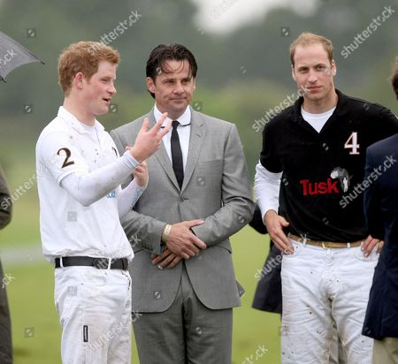 Prince Harry, Eric Deardorff CEO of Garrard and Prince William