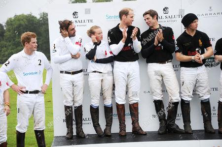 Stock Photo of Prince Harry, Jose Donoso, Mathilda Wood, Prince William, Malcolm Borwick