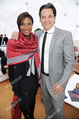 Denise Lewis with Eric Deardorff, CEO of Garrard Goldsmiths