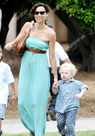 Minnie Driver and son Henry Story