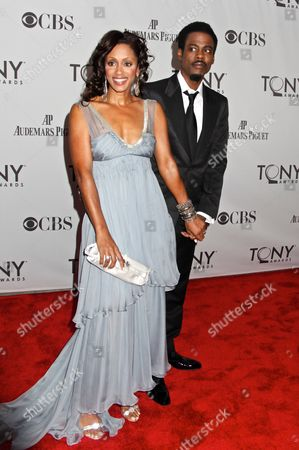 Stock Picture of Chris Rock and wife Malaak Compton-Rock