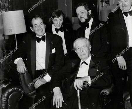 Stock Image of Former Prime Minister Harold Macmillan With His Son And Grandsons; Maurice Macmillan Adam Macmillan And Alexander Macmillan. Harold Macmillan 1st Earl Of Stockton (dead 12/1986) Was Conservative Prime Minister Of The United Kingdom From 10 January 1957 To 18 October 1963.