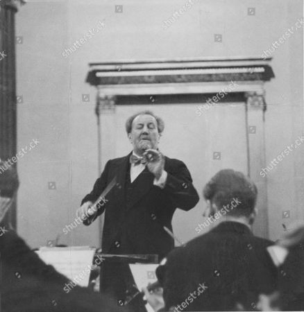 Sir Henry Wood Conducts The Boyd Neal String Orchestra At The Lunch Hour Concert At The National Gallery.