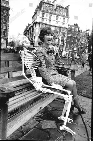 Television Presenter Sheila Kennedy With Skeleton