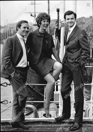 Thames Television New Presenters L-r David Hamilton Sheila Kennedy And Philip Elsmore