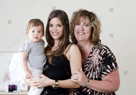 Carly Zucker with her daughter Ruby and baby consultant Alison Scott-Wright
