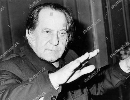 Editorial image of Royal Portrait Painter Pietro Annigoni In 1977.