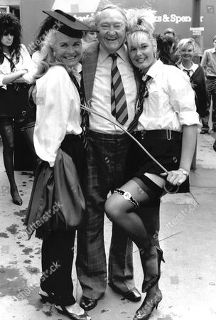 St Trinians Get Together. Picture Shows: Shirley Eaton Arthur Mullard And Cindy Matthews.