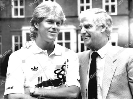 Editorial photo of Tennis Player Stefan Edberg And His Coach Tony Pickard