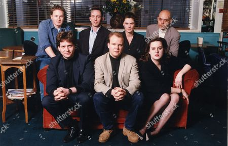 The Editorial Team Of 'modern Review'- Back Row From Left: Gavin Pretor Pinney; Tom Shone; Rosanne Blair; Anthony Costin. Front Row From Left: Cosmo Landesman Toby Young And Julie Burchill