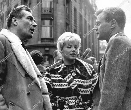 Patrick Holt And His Wife Sandra Dorne And Tony Wright - 1961