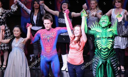 T V Carpio, Reeve Carney, Jennifer Damiano and Patrick Page
