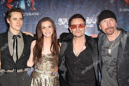 Reeve Carney, Jennifer Damiano, Bono and The Edge