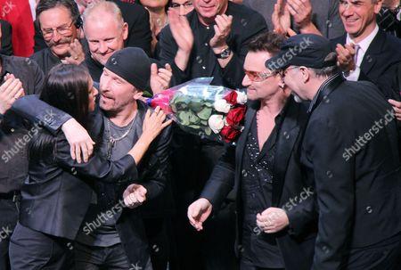 Julie Taymor, The Edge, Bono and Philip William McKinley