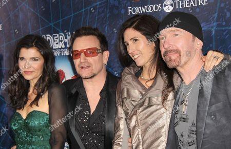 Ali Hewson, Bono, Morleigh Steinberg and The Edge