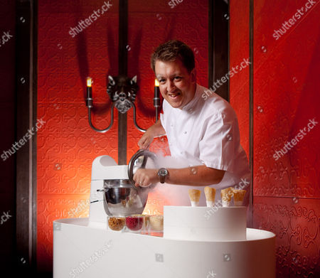 Chef Ashley Palmer Watts creating Nitrogen Ice Cream